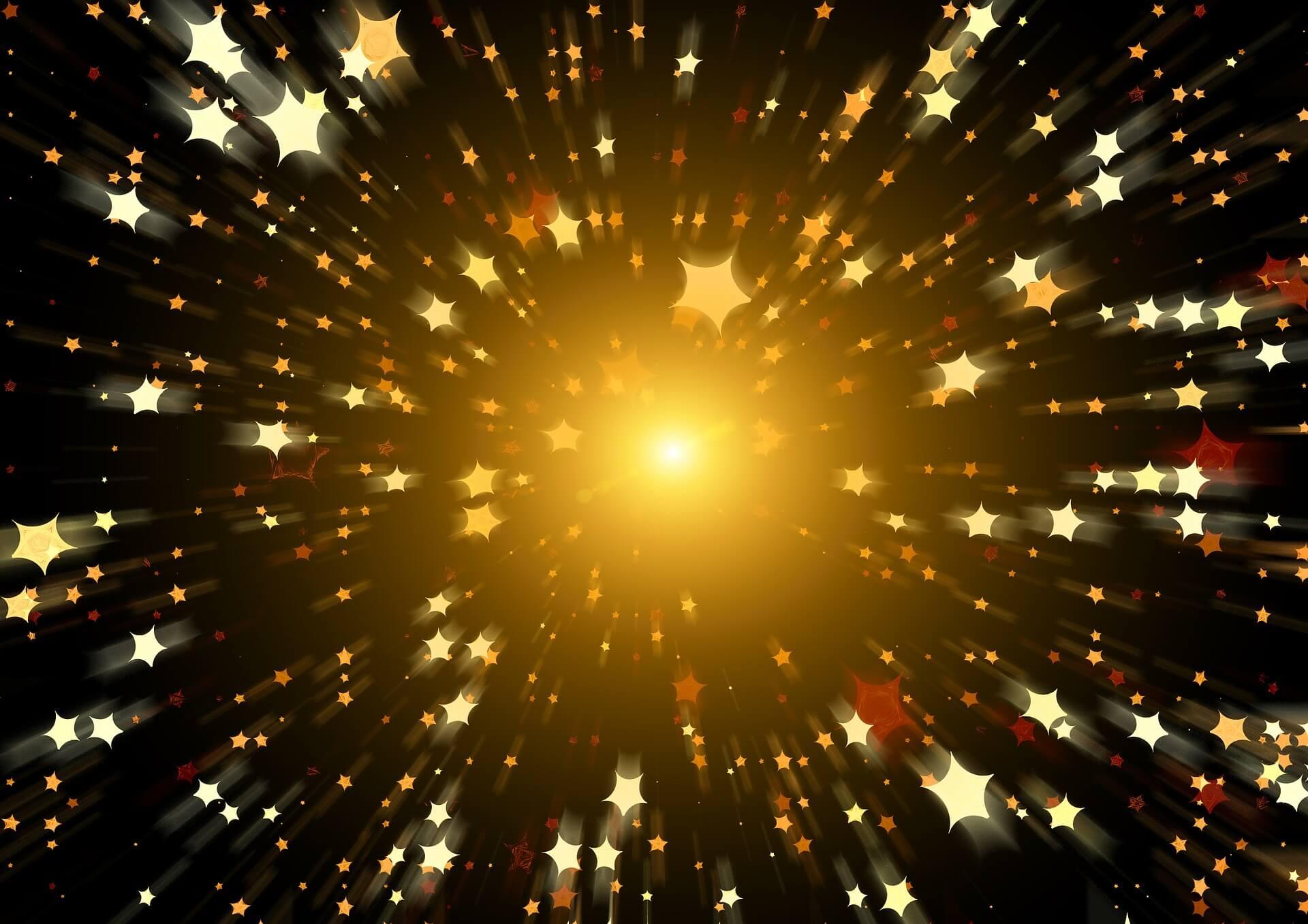 fond couleur étoiles or fond noir - les constellations familales maureen boigen